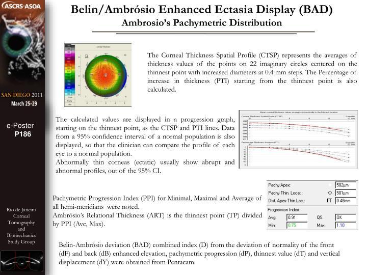 Belin/Ambrósio Enhanced Ectasia Display (BAD)