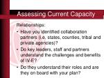 assessing current capacity3
