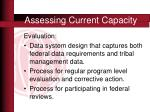 assessing current capacity8