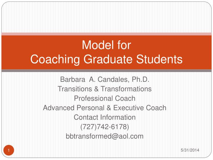 model for coaching graduate students