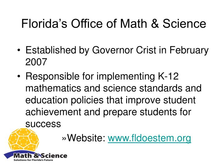 Florida's Office of Math & Science