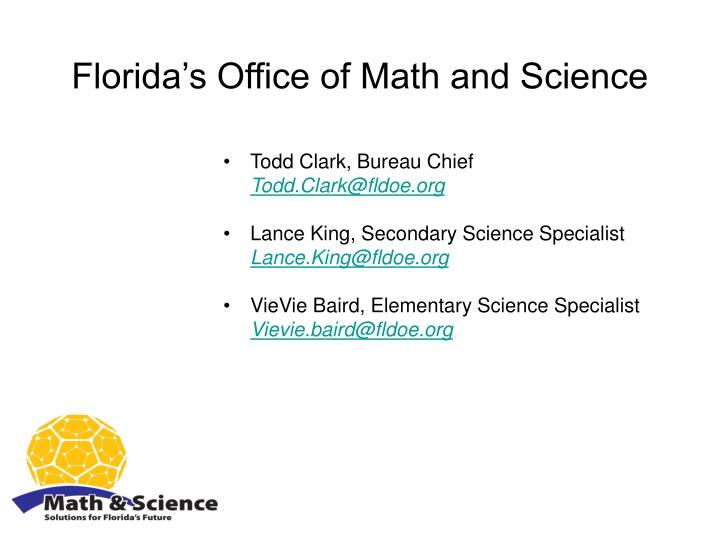 Florida's Office of Math and Science