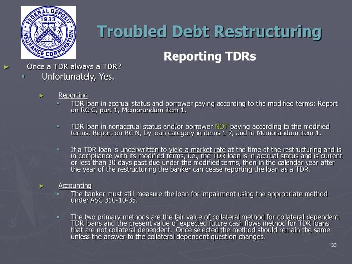 PPT - Troubled Debt Restructuring Teleconference San Francisco Region February 28, 2012 ...