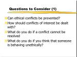 questions to consider 1