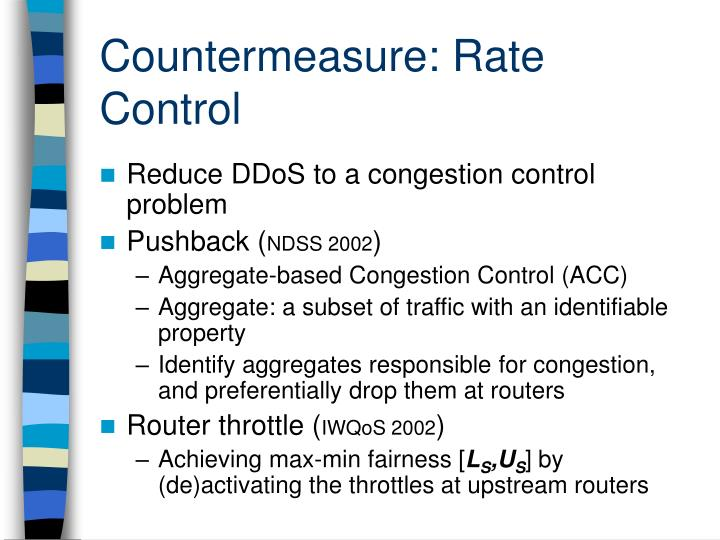 Countermeasure: Rate Control