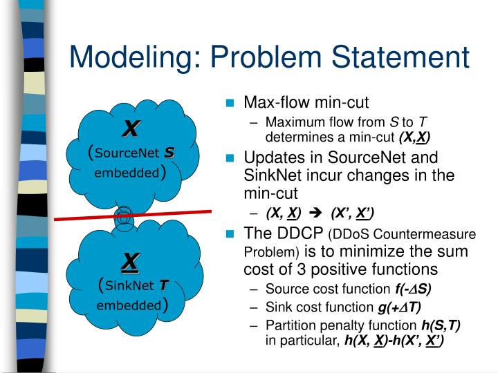 Modeling: Problem Statement