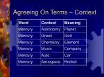 agreeing on terms context