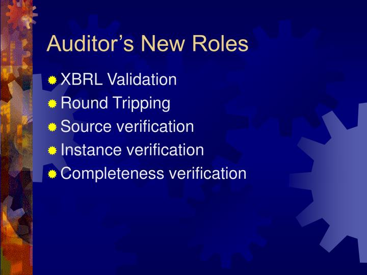 Auditor's New Roles
