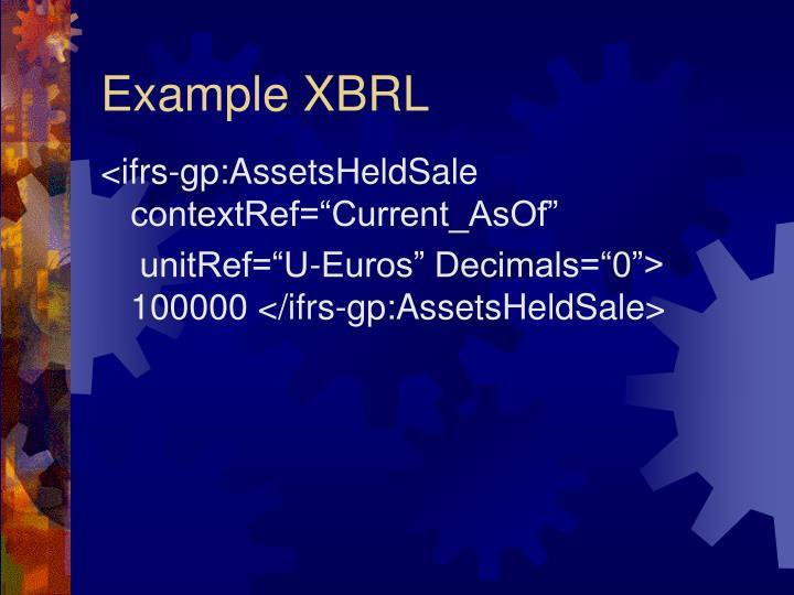 Example XBRL