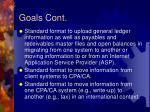 goals cont