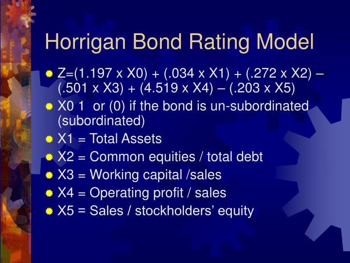 Horrigan Bond Rating Model