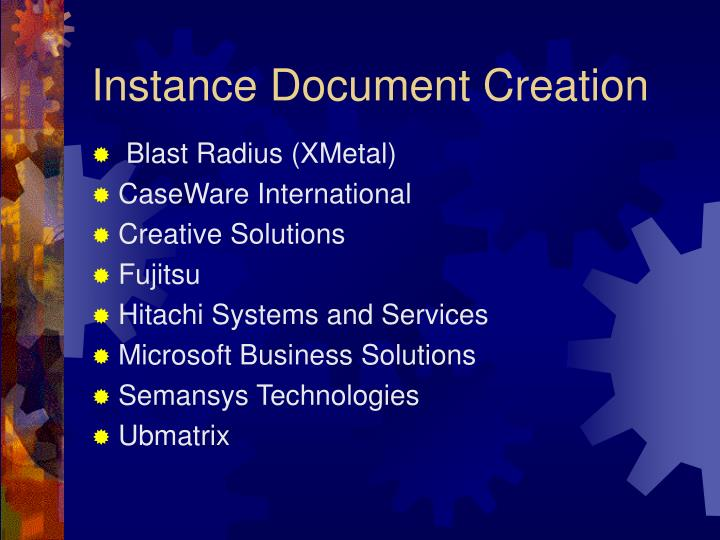 Instance Document Creation