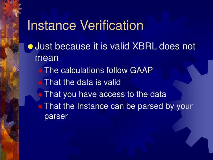 Instance Verification