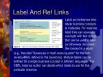label and ref links