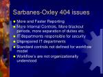 sarbanes oxley 404 issues