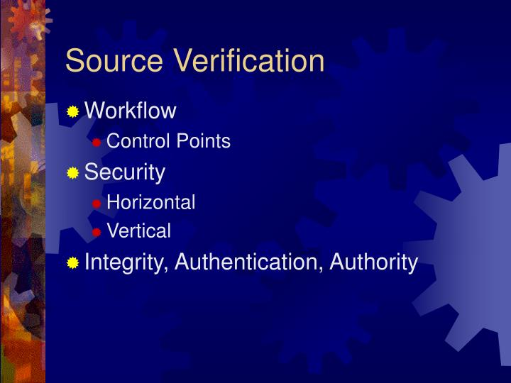 Source Verification