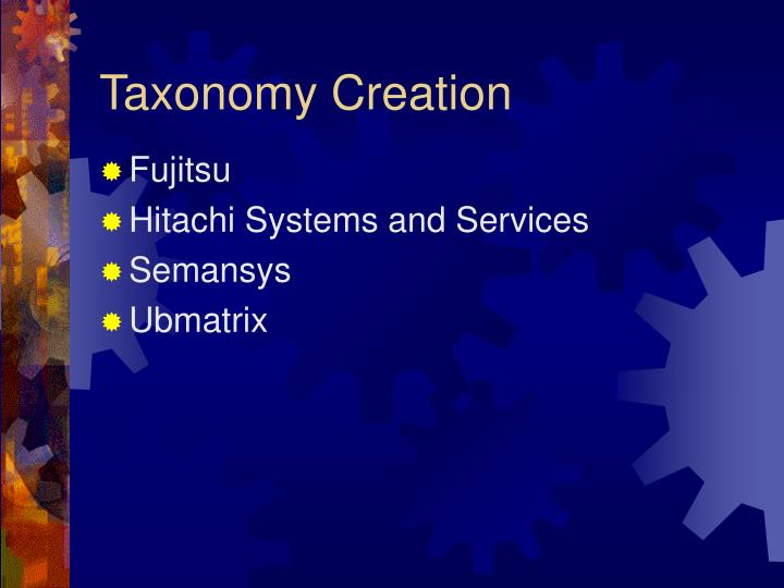 Taxonomy Creation