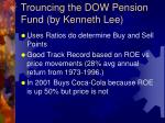 trouncing the dow pension fund by kenneth lee