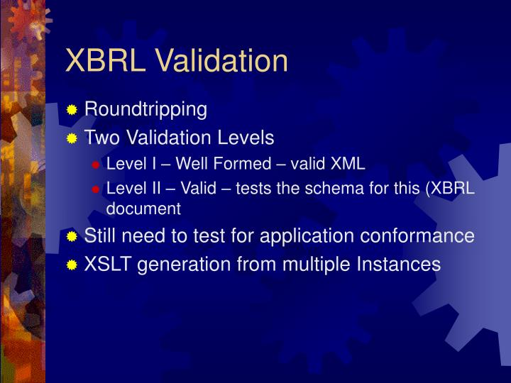 XBRL Validation
