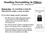 handling downshifting in others arlene taylor phd realizations inc
