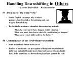 handling downshifting in others arlene taylor phd realizations inc2