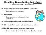 handling downshifting in others arlene taylor phd realizations inc3