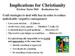 implications for christianity arlene taylor phd realizations inc