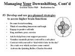 managing your downshifting cont d arlene taylor phd realizations inc1