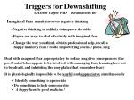 triggers for downshifting arlene taylor phd realizations inc2