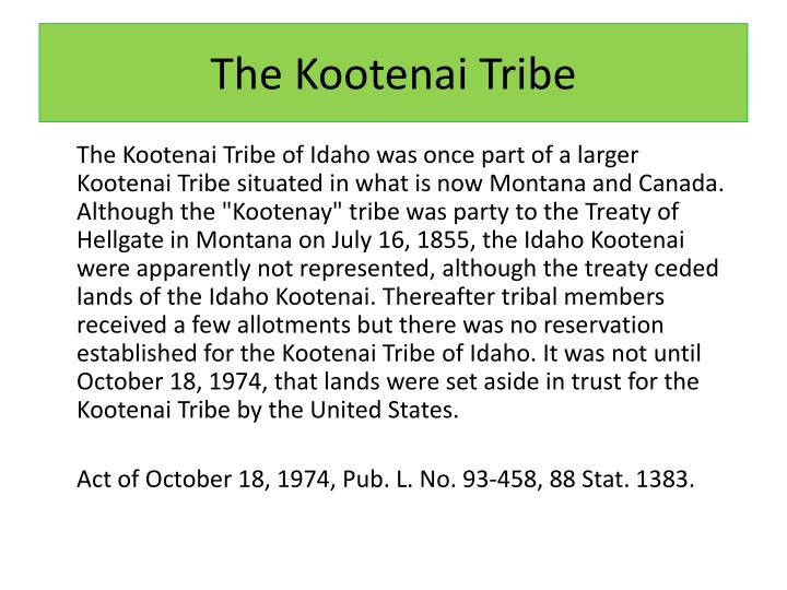 The kootenai tribe