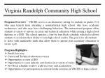 virginia randolph community high school