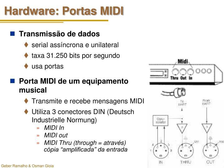 Hardware: Portas MIDI