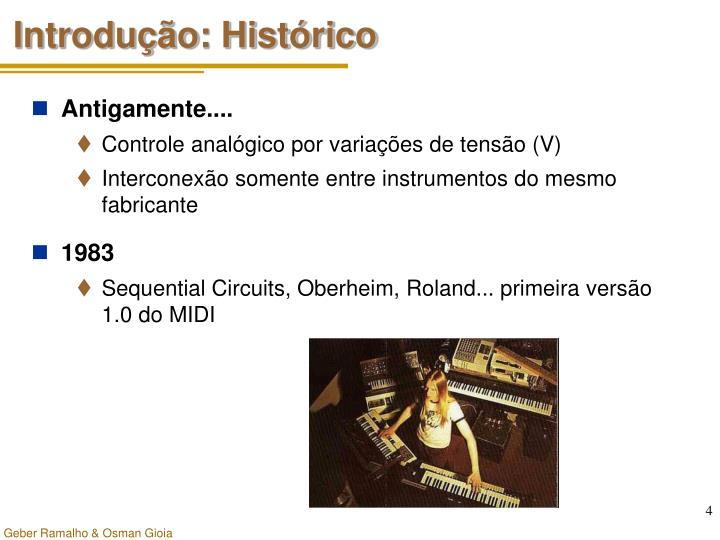 Introdução: Histórico