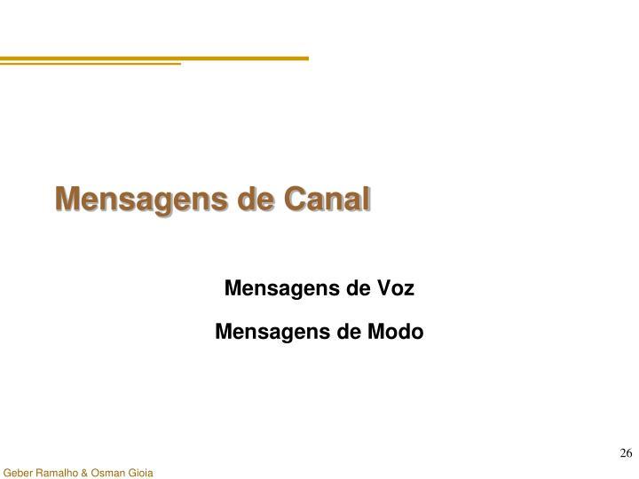Mensagens de Canal