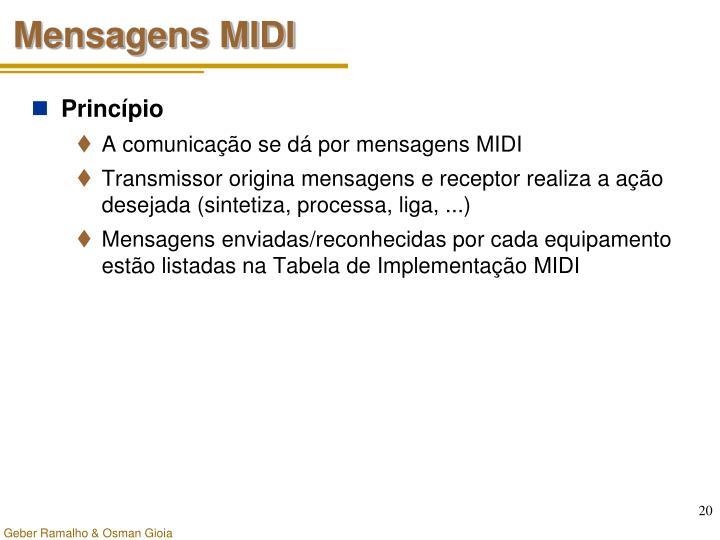 Mensagens MIDI