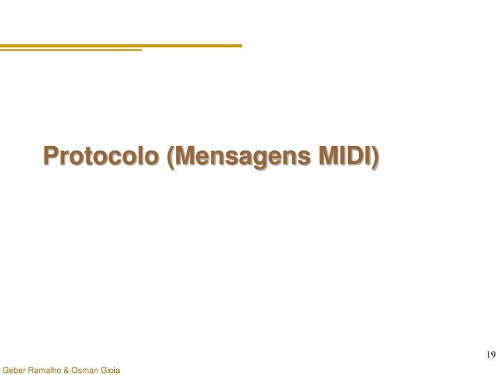 Protocolo (Mensagens MIDI)