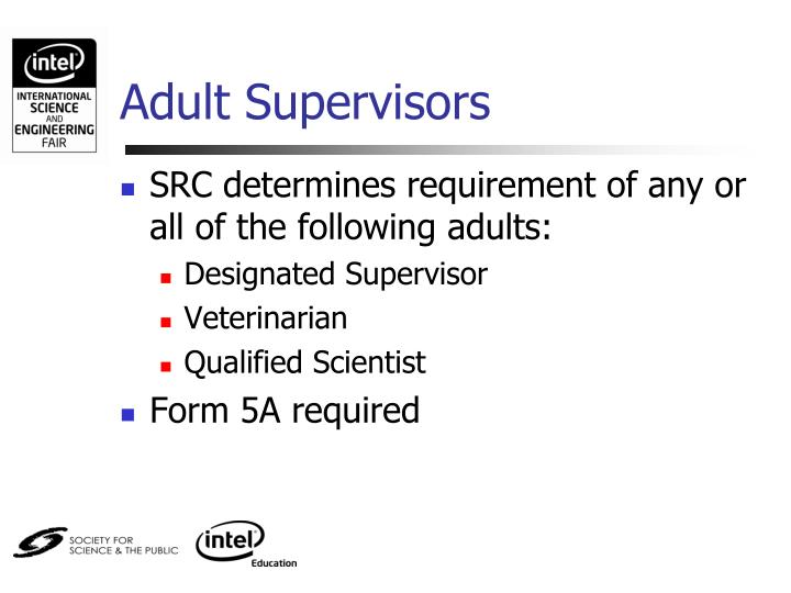 Adult Supervisors