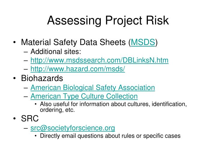 Assessing Project Risk