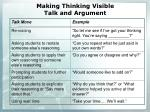making thinking visible talk and argument