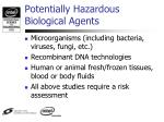 potentially hazardous biological agents1