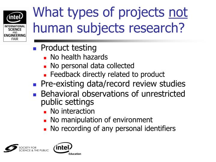 What types of projects