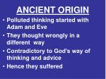 ancient origin