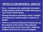 effects on nation s health