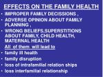 effects on the family health1