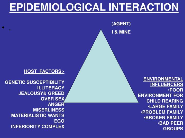 EPIDEMIOLOGICAL INTERACTION