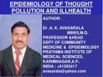 epidemiology of thought pollution and illhealth