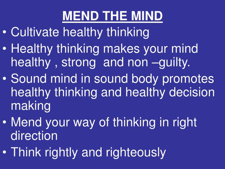MEND THE MIND