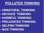 polluted thinking