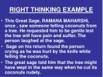 right thinking example