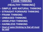 sane thinking healthy thinking